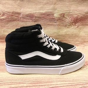 Vans Old Skool Skater Hi Black Sk8 Sneaker 5 EUC